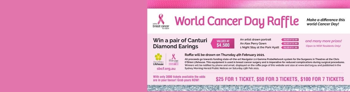 Purchase your SBCF World Cancer Day Raffle Ticket Today!